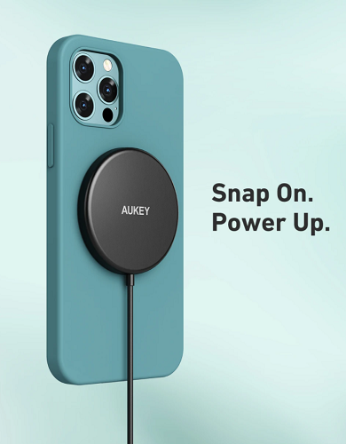 Aukey Aircore magnetic wireless charger zwart